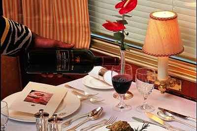 Voiture Restaurant Table Photo Blue Train